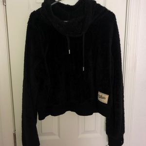 Fuzzy Hollister Crop Sweater